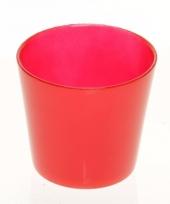 Glazen bloempot rood 12 cm trend