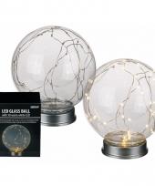 Glazen bol met 30 lampjes trend