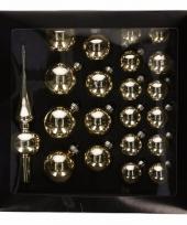 Glazen kerstballen goud 21 x trend