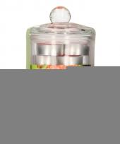 Glazen pot met 24 aardbei geur theelichtjes trend
