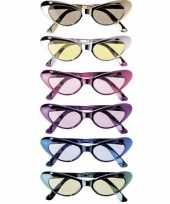 Glimmende feestbrillen ovaal trend