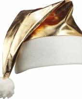 Glimmende gouden kerstmuts trend