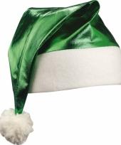 Glimmende groene kerstmuts trend