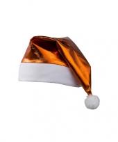 Glimmende oranje kerstmuts trend