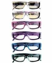 Glimmende party brillen rechthoekig trend