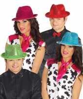 Glimmende roze carnavalshoed voor volwassenen trend