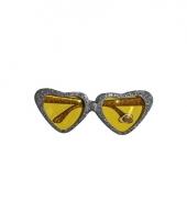 Glitter bril met zilveren hartjes trend 10081719