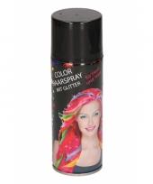 Glitter haarspray zwart metallic trend