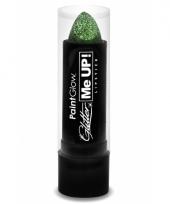 Glitter lippenstift groen trend