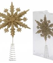Glitter piek goud sneeuwvlok trend