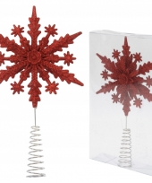 Glitter sneeuwvlok piek rood trend