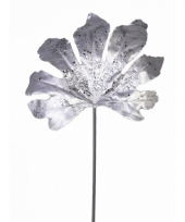 Glitter tak aralia zilver 55 cm trend