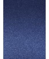 Glitterend blauw hobby karton a4 trend