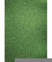 Glitterend groen hobby karton a4 trend