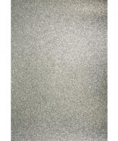 Glitterend zilver hobby karton a4 trend