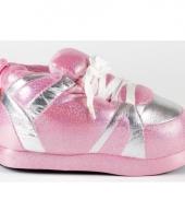 Glossy pantoffels roze zilver voor meisjes trend