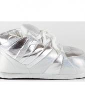 Glossy pantoffels zilver voor meisjes trend