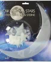 Glow in the dark maan en sterren 13 stuks trend