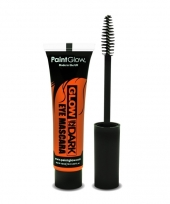 Glow in the dark mascara oranje trend