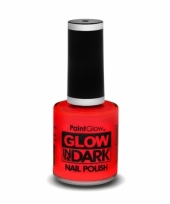 Glow in the dark nagellak neon rood trend