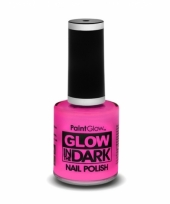 Glow in the dark nagellak neon roze trend