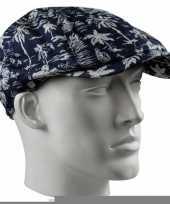 Golfpet met tropische print voor heren trend