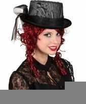 Gothic hoge hoed met kant trend