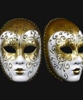 Goud deco masker handgemaakt trend