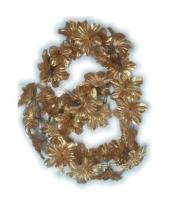 Gouden bloemslingers 2 meter trend