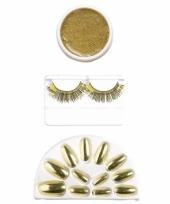 Gouden cosmetica set trend