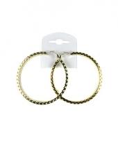 Gouden creolen 8 cm trend