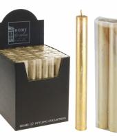 Gouden dinerkaarsjes 22 cm trend