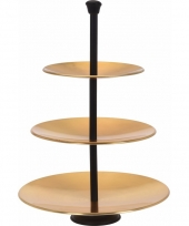 Gouden etagere 3 laags trend