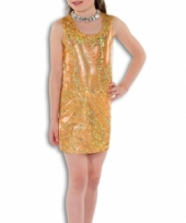 Gouden glamour jurk voor meisjes trend