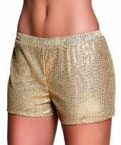 Gouden hotpants met pailletten trend
