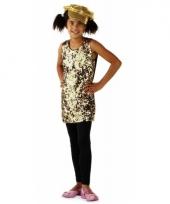 Gouden jurkjes met pailletten voor meiden trend