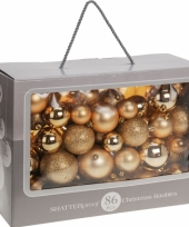 Gouden kerstballen 86 delig trend