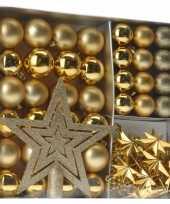 Gouden kerstboomversiering 45 delig trend