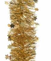 Gouden kerstversiering folie slinger met ster 270 cm trend