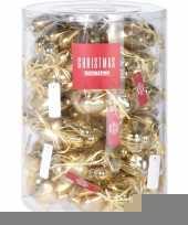 Gouden kerstversiering hartjes kerstballen 10 stuks trend