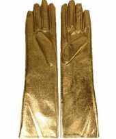 Gouden lange handschoenen dames trend