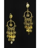 Gouden munten oorbellen trend