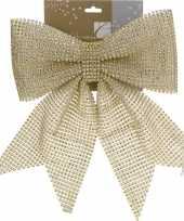 Gouden pailletten strik 29 cm trend