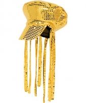 Gouden petje met pailletten trend