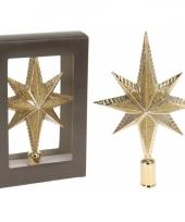 Gouden piek ster vorm 25 cm trend