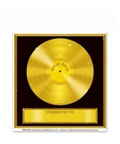Gouden platen stickers trend