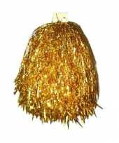 Gouden pompom 33 cm trend
