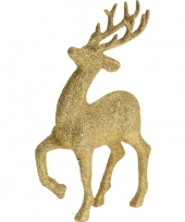 Gouden rendieren hertjes deco kersthangers van 17 cm trend