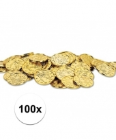 Gouden schatkist muntjes 100 stuks trend