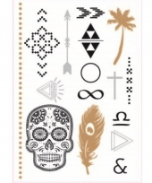 Gouden skelet tattoos trend